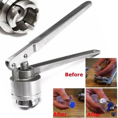 20MM Stainless Steel Vial Manual Crimper Flip Off Caps Hand Sealing Machine