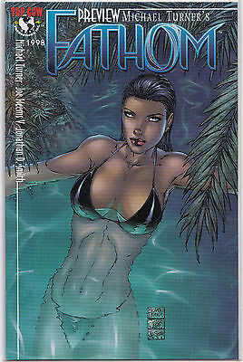 Michael Turner's Fathom Preview Near Mint 1998 Top Cow Image