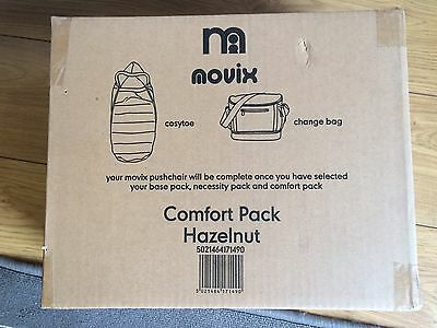 Brand New Mothercare Movix Comfort Pack Footmuff Cosytoes Changing Bag Hazelnut