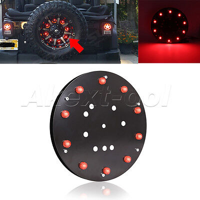 1PC Spare Tire LED Wheel Rear 3rd Brake Decoration Light For Jeep JK Wrangler