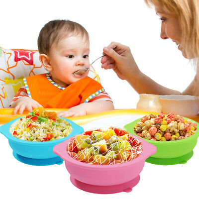 Kids Baby Cute Silicone Happy Mat Baby Table Food Tray Placemat Plate Bowl Gift