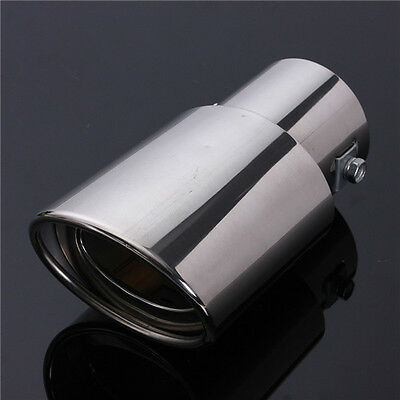 Universal Stainless Steel Chrome Rear Round Car Exhaust Tail Muffler Tip Pipe