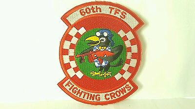 USAF 60th Tactical Fighter Squadron Color Patch 4 1/2 x 3 1/2 inches
