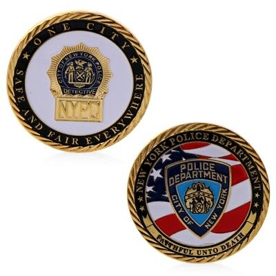 New York Police Department Commemorative Challenge Coin Collection Gift Golden