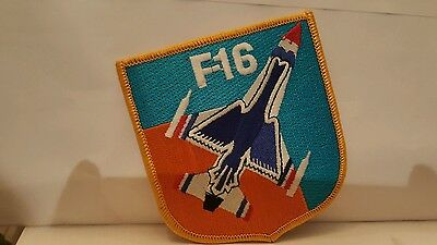 USAF F-16  Fighting Falcon Aircraft Color Patch 4 x 3 1/2 inches