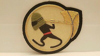 USAF BULLION 25th Bomber Squadron Color Patch 4 1/4 x 3 1/2 inches