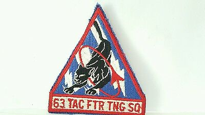 USAF 63rd Tactical Fighter Training Squadron Color Patch 3 3 /4 x 3 1/2 inches
