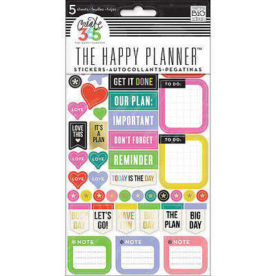 Mambi Create 365 Happy Planner, Everyday Reminders Diary, Journal, Positive, NEW