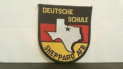 USAF Sheppard AFB Deutsche Schule Squadron Color Patch 3 1/2 x 3 1/4 inches