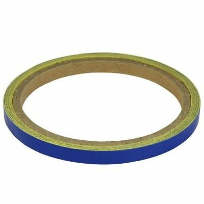 BikeTek Motorcycle Wheel Stripes Blue 7mm Tape Motorbike Scooter New