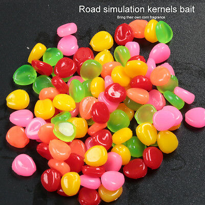 30/50/100Pcs Colorful Pop Up Fishing Lures Corn Sweetcorn Carp Coarse Soft Baits