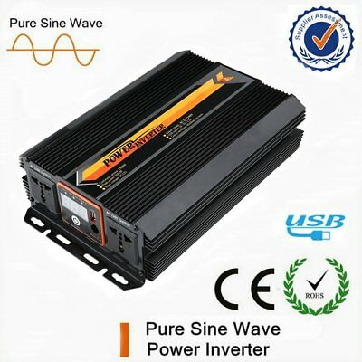 Pure Sine Wave Voltage Converter 12V 240V 4000 4500 Watt Inverter LCD Display AU