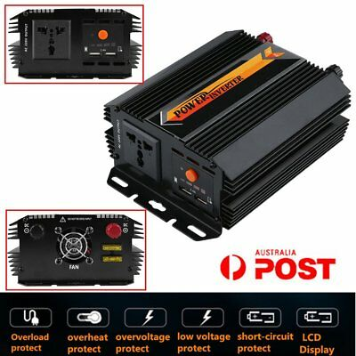 Pure Sine Wave Power Inverter 1500W 3000W 12V-240V LCD Display For Toyoto Mazda3