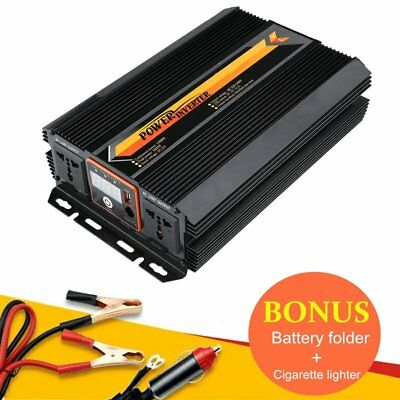 Pure Sine Wave Power Inverter 4000W 4500W 12V-240V LCD Display For Toyoto Mazda3