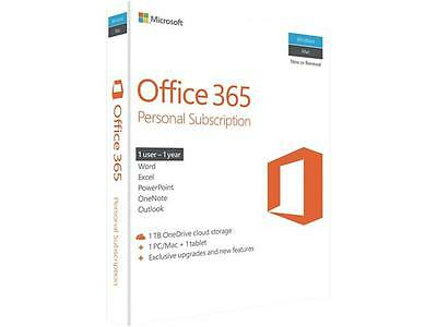 Microsoft Office 365 Personal 2016 1yr Subscription