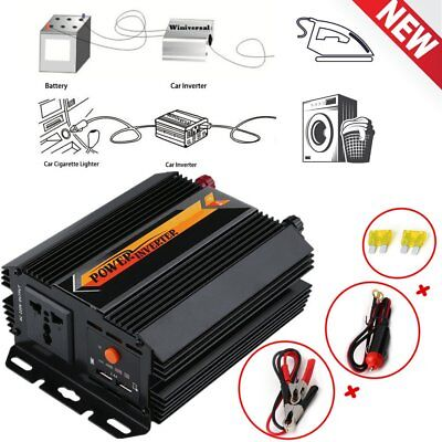 1000W Solar Power Inverter DC 12V to AC 240V Modified Sine Wave Mounted Charger