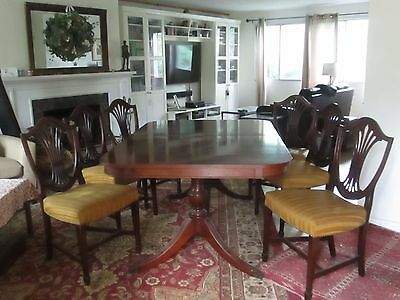 Duncan Phyfe Style Dining Table and 6 chairs - circa 1930's-1940's - EUC !
