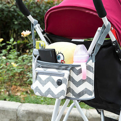 Baby Pushchair Pram Organiser Stroller Buggy Storage Bag Bottle Holder