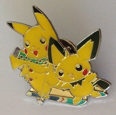 Picachu & Friend Pokemon League Pin Badge Authentic Quality (N8)