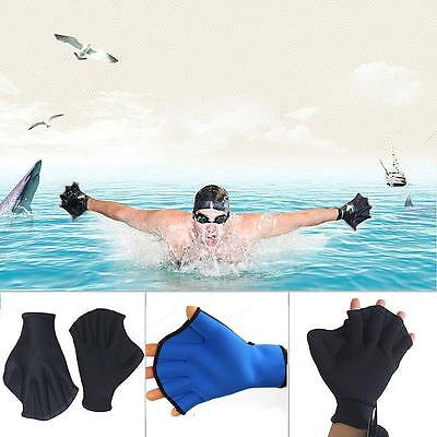 Swimming Surfing Diving Frog Webbed Fingerless Gloves Swim Aid Paddle Glove Fin.