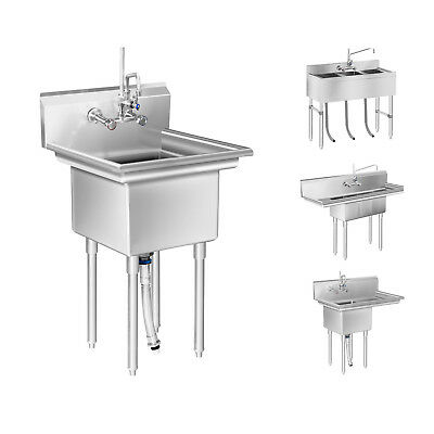 Commercial Sink Large Kitchen Sink Unit 3 Basin Stainless Steel Gastro Sink New