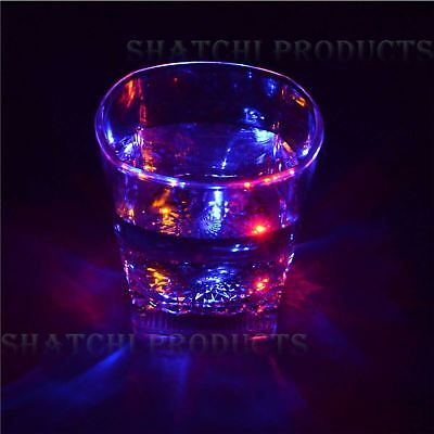Shatchi Flashing LED Glowing Cup Water Indutive Wine Glass Halloween Party item