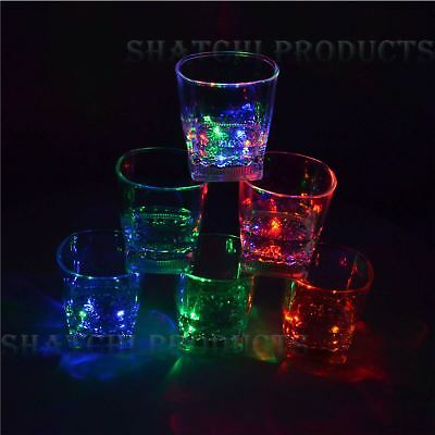 6xShatchi Flashing LED Glowing Cup Water Indutive Glass Halloween Party Novelty