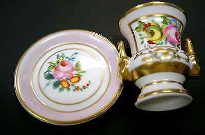 2 pc Set Portugal Hand Painted fine Ceramic Pin Dish and Vase