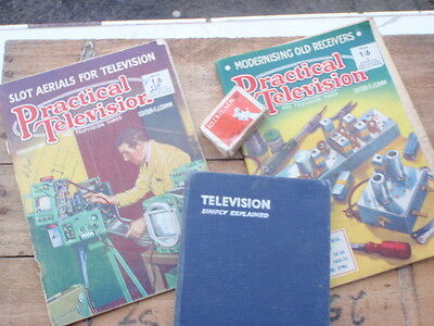Early  TeleVision  1950's  3  Books