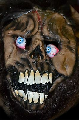 Halloween Scary Mask Full Face Zombie Style BraunFace Fancy Dress