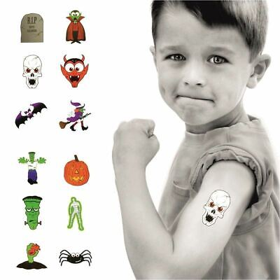 6 Packs of Halloween Mini Glitter Stickers - Party Loot Bag Fillers