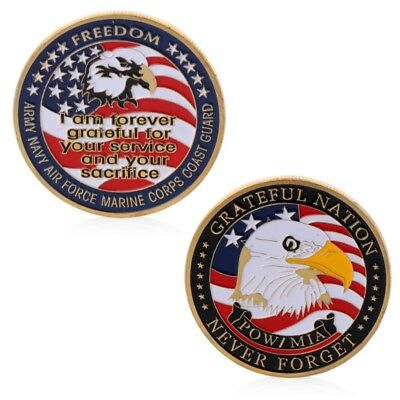 Army Navy Force Marine Corps Coast Guard Commemorative Challenge Coin Collection