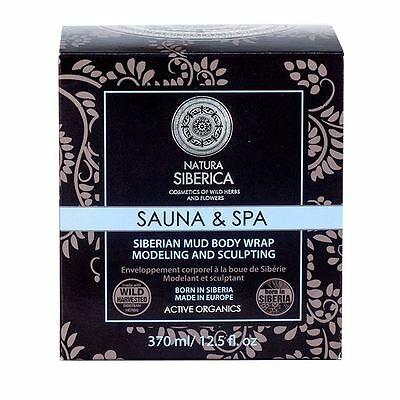 Natura Siberica Sea Mud Wrap/Body Mask - Anti cellulite 370ml Active Organics
