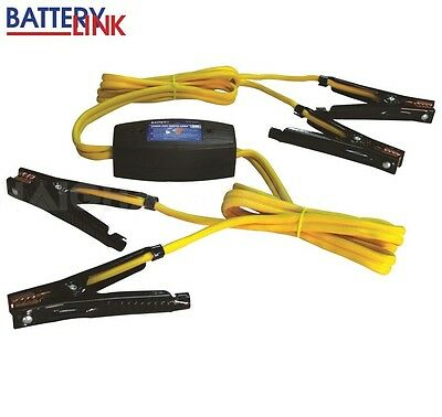 Jumper Leads Booster Cables Power Safe Inelligent Connection Operation 200 Amp