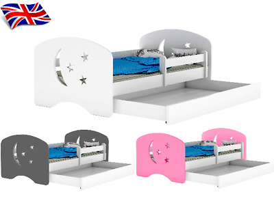 JUNIOR TODDLER BED WITH DRAWER,MATTRESS(optional) 160cmx80cm LARGE  MANY DESIGNS