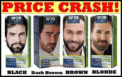 MEN COLOUR CREAM for BEARD & MOUSTACHE PERMANENT-Grey Hair Cover-up Dye 10 Min.
