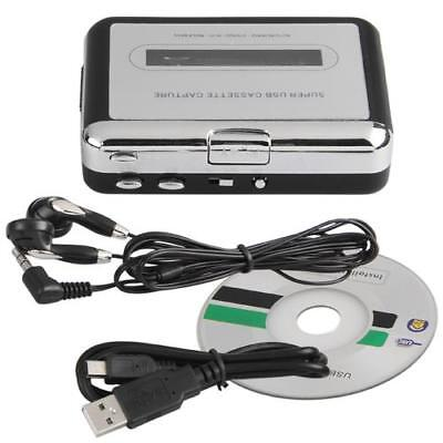 Cassette-to-MP3 Converter Tape to USB Flash Drive Audio Sports NEW