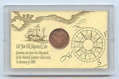 1808 East India Co X Cash Coin (#1119) Nice Coin Shipwreck of the Admiral Gardne