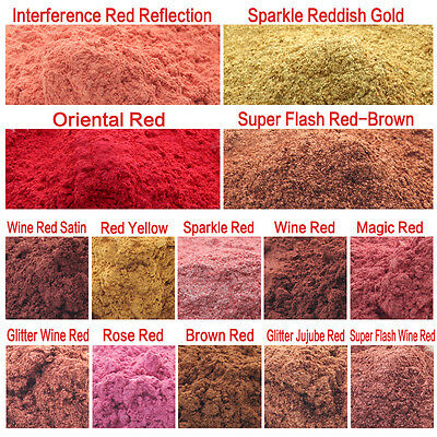 10g Red Color Cosmetic Grade Natural Mica Powder Pigment Soap Candle Colorant