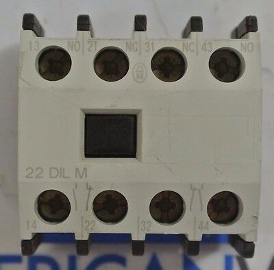 Moeller 22 DIL M Relay Contact Block - USED