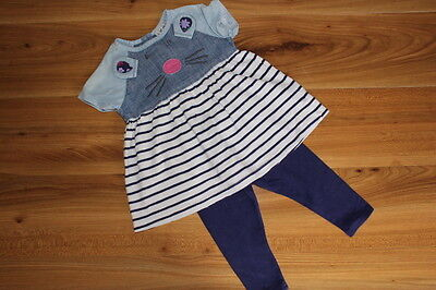 NEXT girls MOUSE tunic leggings outfit 12-18 months *I'll combine postage
