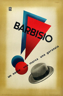 Barbisio Hats Advertising poster 1946 13 x 19 Giclee print