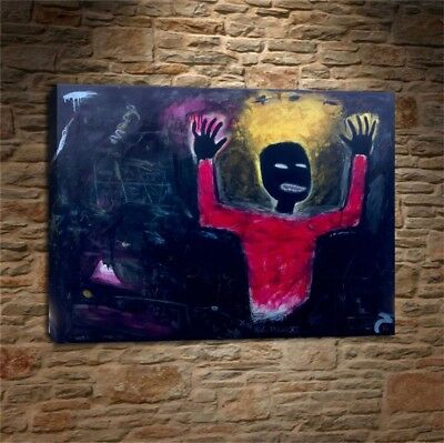 """Jean Michel Basquiat """"Untitled"""" HD print on canvas huge wall picture  18x24"""""""