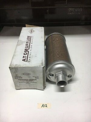"""New Allied Witan Co Air Exhaust Muffler Model M15 Size 15 Male NPT 1-1/2"""""""