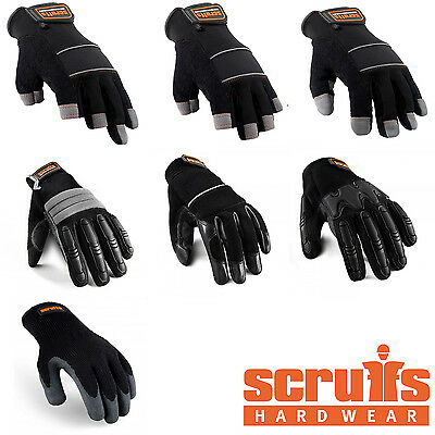 Scruffs Gloves Max Performance Collection - Fingerless Precision Mechanic Safety