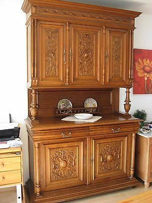 antiker k chen schrank gr nderzeit deutschland um 1890 weichholz buffet 19 jhdt eur 799 00. Black Bedroom Furniture Sets. Home Design Ideas
