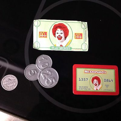 McDonalds VINTAGE Drive Thru Ronald McDonald restaurant Credit Card & Play Money