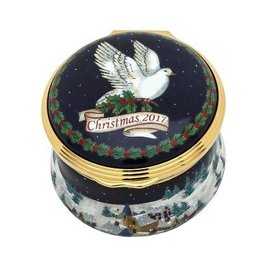 Halcyon Days Enamel Annual CHRISTMAS Year Box 2017 with COA NEW MINT 001/10860