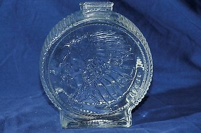 Anchor Hocking Vintage Indian Head Buffalo Nickle Glass Coin Bank