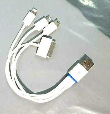 4 in 1 Universal Multi USB Charger Cable Lead For Mobile Phone iphone samsung